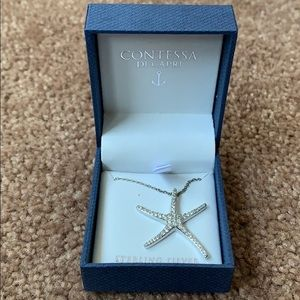 ⭐️ Star Fish Sterling Silver Necklace • NWOT!
